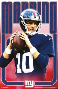 2e9c6d083 Eli Manning THROWBACK WARRIOR New York Giants QB NFL Action Wall ...