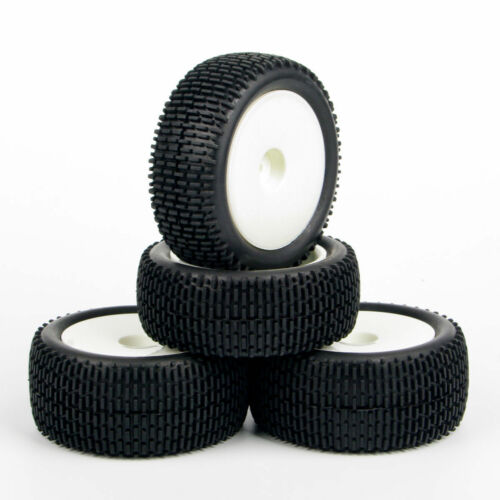 4X Ruber Tires Front Rear Wheel Rim 12mm Hex For RC 1:10 Off-Road Buggy Car