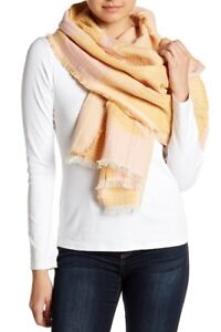 Madewell-New-Forms-Stitched-Scarf-NECTAR-GOLD-PINK-MULTI-NWT