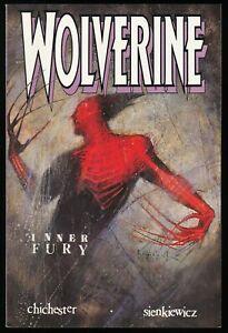 Wolverine-Inner-Fury-Trade-Paperback-TPB-Marvel-Comics-1992-Bill-Sienkiewicz-art
