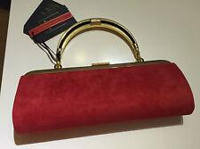 Balmain X H&M Tasche Handtasche Bag Clutch Rot Velourleder neu new