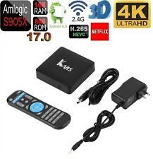 KM5 4K Android 6.0 Smart TV BOX Amlogic S905X Quad Core WIFI Streamer Netflix