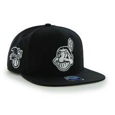 Cleveland Indians '47 Brand MLB Snapback Hat Cap - Chief Wahoo Indian Head Black
