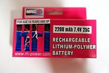 RFI 2200mAh 2S 7.4V 25C Lipo Battery E-flight Zippy Blade Hex Fly Losi Compact