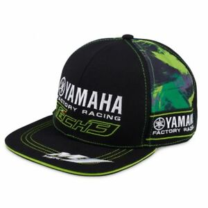 2018-Official-Tech-3-Yamaha-Visiera-Piatta-Mimetico-Capellino-da-Baseball
