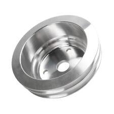 Aluminum Crankshaft Pulley 2 Groove Lwp Long Water Pump For Chevy Sbc 350 Crank
