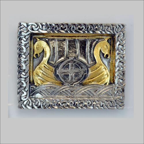 050 * vikings Boucle de ceinture Belt Buckle saga runes Odin thor bateau viking