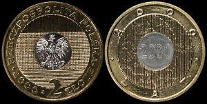 Pologne. 2 Zloty. 2000 (Bimétallique Pièce KM#Y.374 Neuf) Millénaire