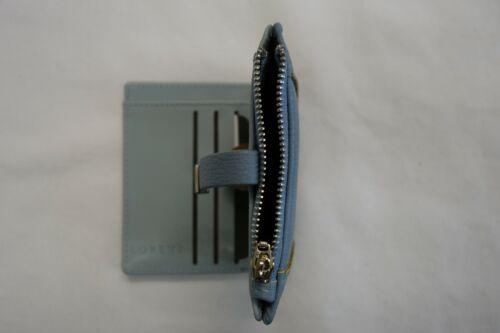 Portafoglio Donna Borsa di piccole dimensioni compatte Blu Con Tasca Monete RFID PROTECTED