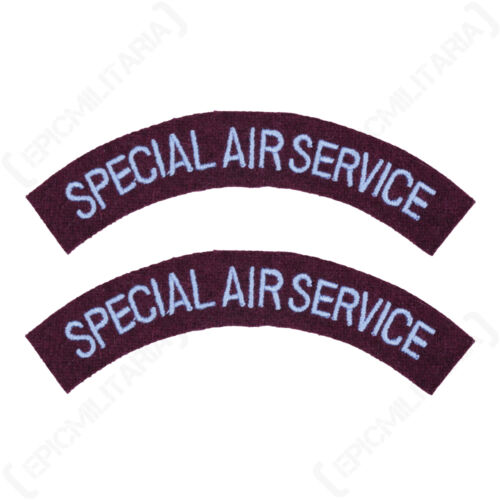 British Army SPECIAL AIR SERVICE Shoulder Titles WW2 Repro Arm Patch Insignia