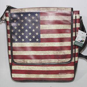 Borsa Tracolla Brandani Bandiera americana america USA vintage ECO ...