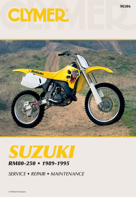 clymer m386 service shop repair manual suzuki rm80 250 89 95 ebay rh ebay com