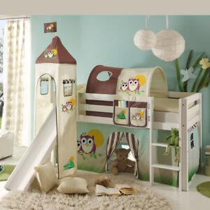 Hochbett Mit Rutsche Snoopy Kinderzimmer Bett 90x200 Kiefer Massiv