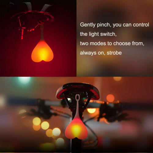 BIKE BALL LIGHTS Bicycle LED Back Rear Tail Light Cycling Heart Ball Egg Lamp