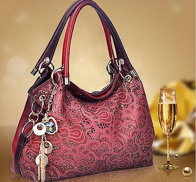Women's Fashion Satchel Handbag Leather Tote Shoulder Bag Messenger Bags Purse