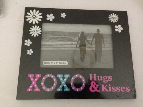 "Hugs /& Kisses Romantic You /& Me Photo Frame 6/"" x 4/"" Photo All my Love"