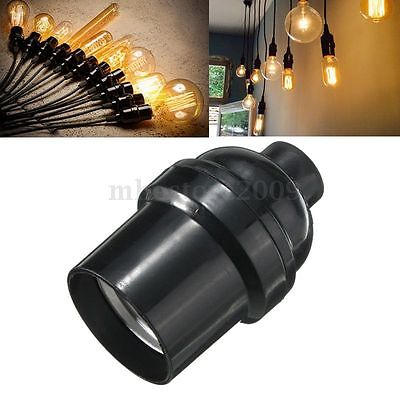 E27/E26 Light Bulb Lamp Holder Pendant Edison Screw Cap Socket Vintage Black 4A