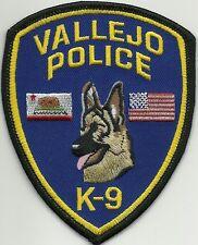CALIFORNIA  VALLEJO  POLICE  K-9  DHF Patch Polizei Abzeichen Hundeführer 2013