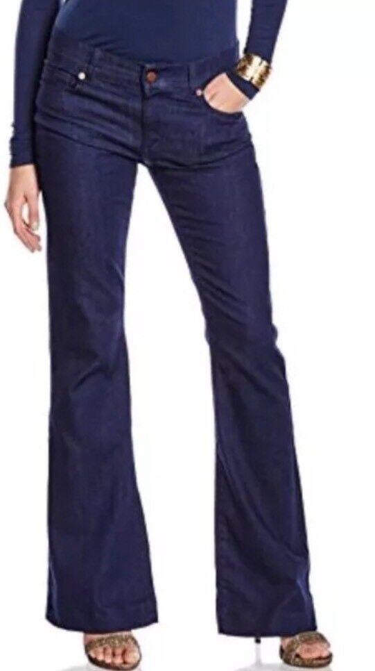 French Connection BELLE inferiore Risciacquo Jeans Blu Scuro Taglie 10 12 NUOVO con etichetta stile 74EB