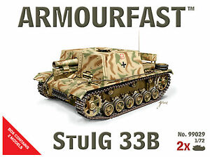 Armourfast-1-72-Allemand-StuIG-33B-Tank-Kit-Modelisme-Contient-2-Chars-99029
