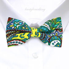 *BRAND NEW* MULTI-COLOR PAISLEY HARD-TO-FIND RARE TUXEDO BOYS BOW TIE B987