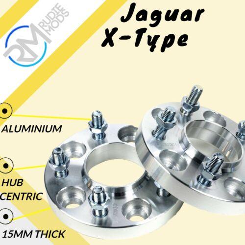 Jaguar X-Type 5x108 15mm Hubcentric Rueda Espaciadores 1 Par