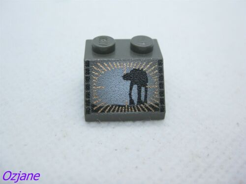 LEGO PART 3039PX11 SLOPE 45 2 X 2 WITH STAR WARS AT-AT PATTERN PRINTED