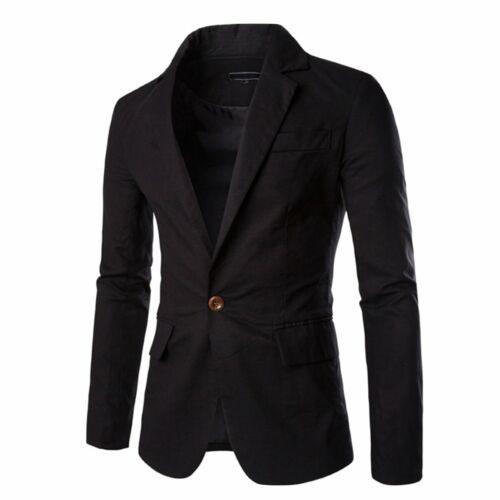 Pishon Men/'S Linen Blazer Lightweight Casual Solid One Button Slim Fit Sport Coa