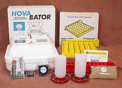 HovaBator Egg Incubator | Turner | Candler | Feeder Kit - GQF Goose Pheasant