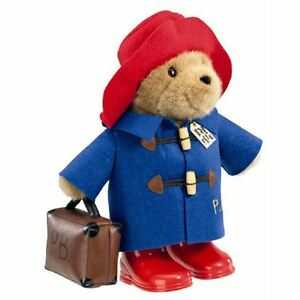 Official 36cm Large Classic Paddington Bear with Boots and Suitcase - New Cute