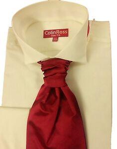 FREE-POST-Ivory-Wing-Victorian-Collar-Dress-Shirt-Wedding-Evening-14-5-23-NWT