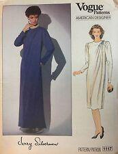 NEW & VINTAGE 1980s VOGUE DESIGNER SEMI FITTED A-LINE DRESS  PATTERN 1117 - 12