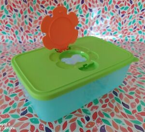 Tupperware - Caja porta toallitas húmedas grande, bebé, infantil, baño, aseo
