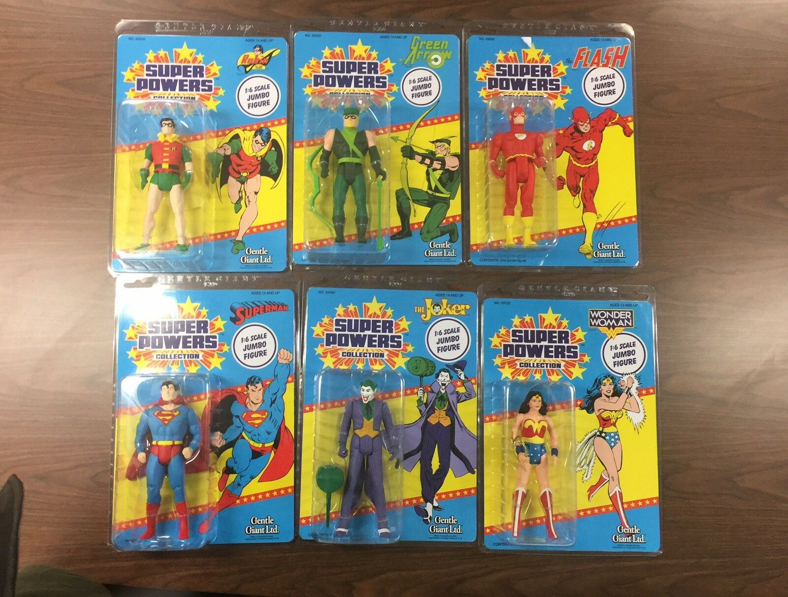 Super Powers Jumbo MOC LOT 12Inch 6 Figure Lot Superman Grün Arrow Joker Robin