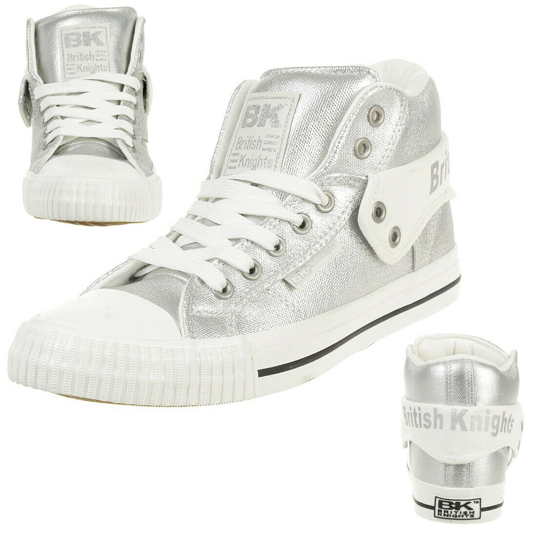 British Knights Roco Metallic Bk Women's Sneakers B43-3706-01 Silver Metallic