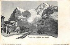 CPA SUISSE WENGERNALP MIT EIGER UND MONCH (dos non divisé) TRAIN