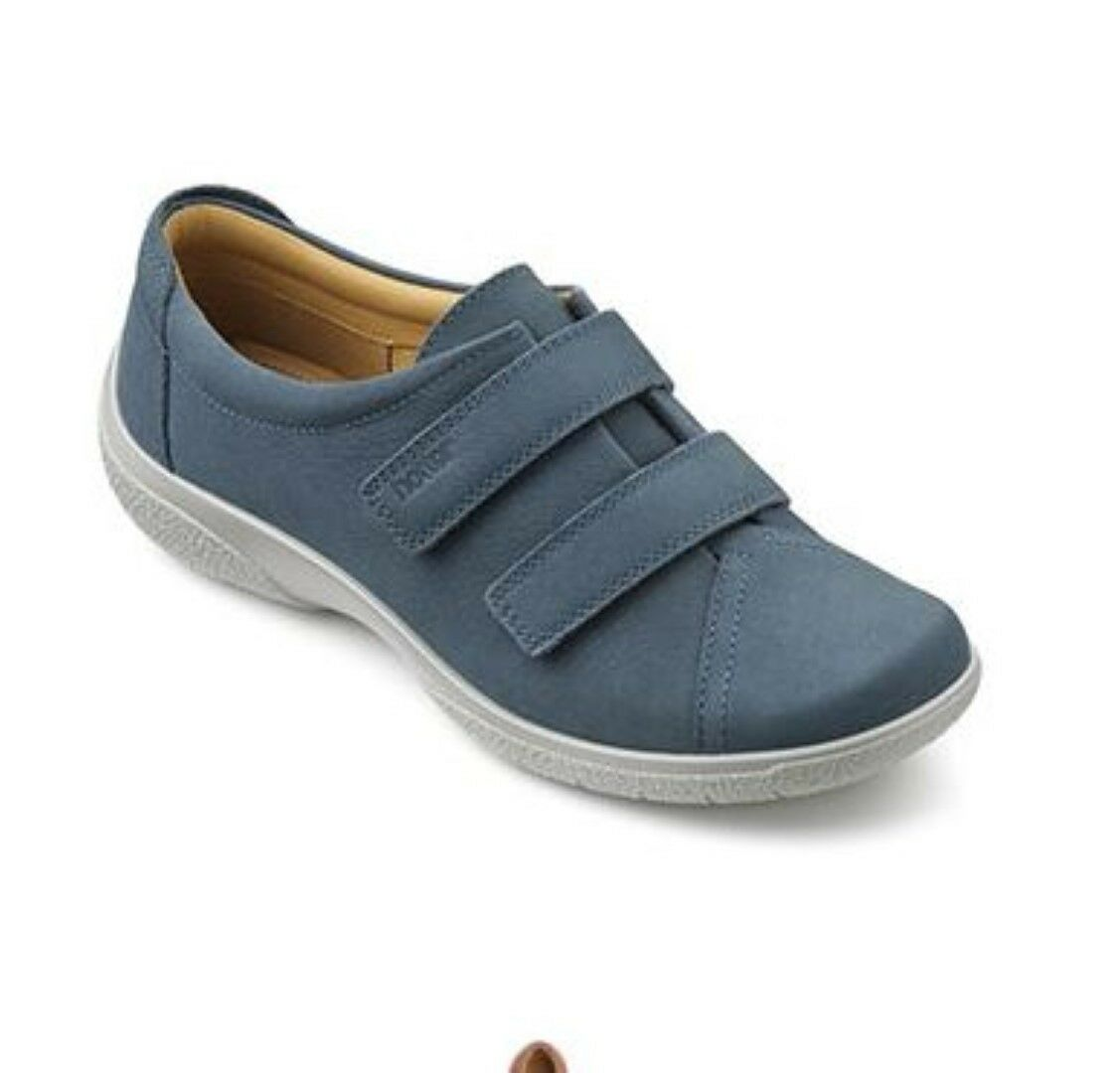 Hotter Damenschuhe Leap Extra Wide Blau River Nubuck Schuhes UK 5 EU 38 LN36 29
