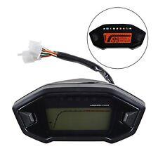 LCD Digital Backlight Universal Motorcycle Odometer Speedometer Tachometer Gauge