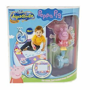Tomy-72034-Peppa-Pig-Aquadoodle-Water-Drawing-Large-Mat-includes-Pen-amp-Stamp