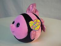 Ty Beanie Ballz Gilly With Tags Pink Black Fish Plush 5 Size Everyday Gift
