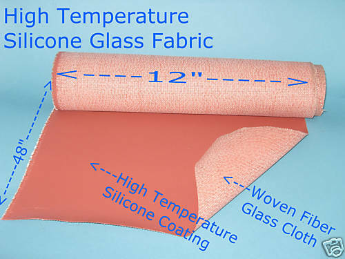 Silicone High Temperature Glass Fabric Sheet 12