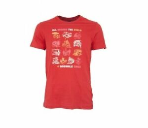 Adidas-Originals-Tshirt-Mens-Casual-Red-All-Around-World-P04106-Size-L
