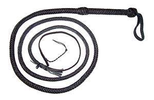 8 pies 12 trenzas Negro de Cuero Real Estilo Indiana Jones látigo de toros (látigo Toro)