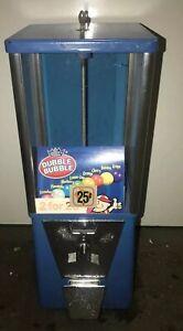 OAK Astro Vista 300 Candy Gumball machine 25 cent vend Incl Lock /& key USA made