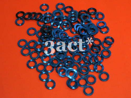 10pcs M6 Titanium Ti Bolt Washer Blue Fit Brake, Stem, Bottle Cage, Shifter