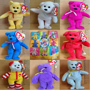 McDonalds-Happy-Meal-Toy-2005-UK-TY-Bear-Plush-Soft-Cuddly-Toys-Various