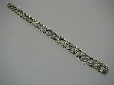 21.5cm We Have Won Praise From Customers Jewelry & Watches Energetic Solid Sterling Silver Chain Cuban Curb Chain Bracelet Italy 1980s 8.5in