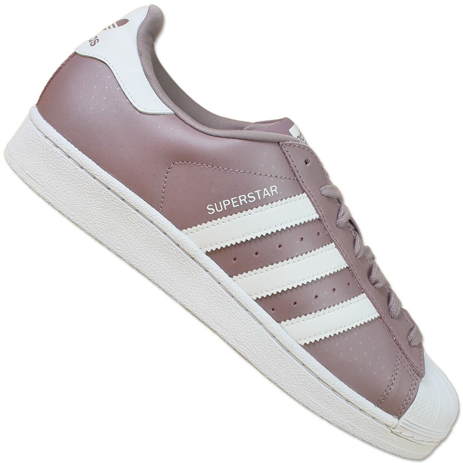 Adidas originals superstar II s75131 grey leather sneakers purple