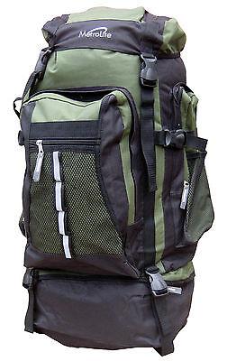 Large 80L StrongPadded Travel Backpack Hiking Outdoor Camping Rucksack Festivals