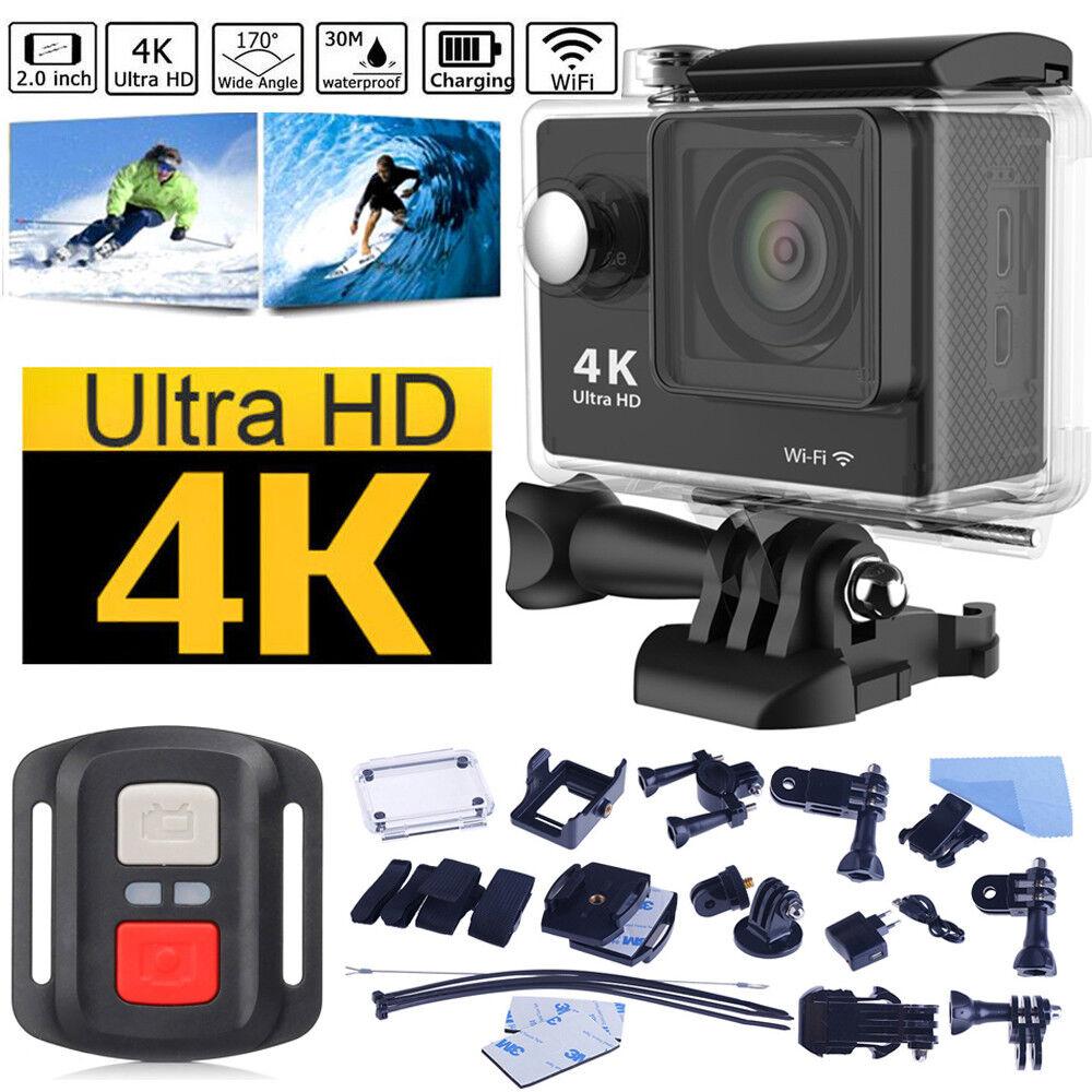4K Sports WIFI Action camera Dual Screen Ultra HD DV 16MP + Remote + Accessory Featured